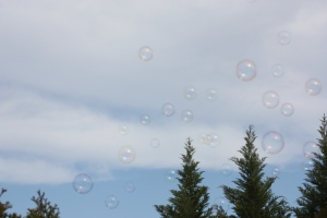 bubbles take to the sky