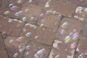 bubbles on patio
