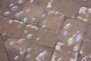 bubbles on patio