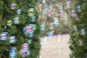 It's raining bubbles!