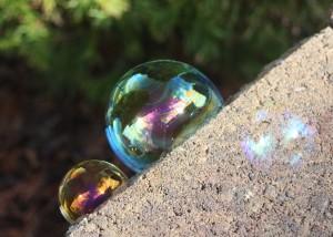 bubbles on the edge